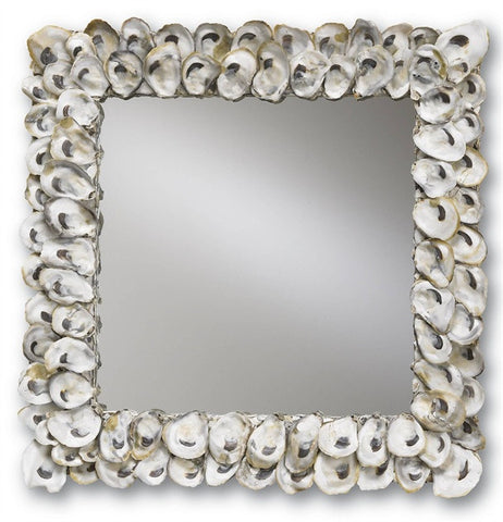 Oyster Shell Beach Decor Mirror