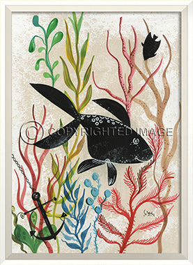Sea Creature Silhouette Fish - By the Sea Beach Decor