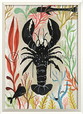Sea Creature Silhouette Lobster - By the Sea Beach Decor
