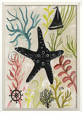 Sea Creature Silhouette Starfish - By the Sea Beach Decor