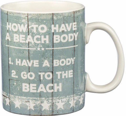 Beach Body Mug - By the Sea Beach Decor