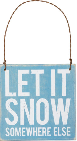 Holiday Sign Let it Snow - By the Sea Beach Decor