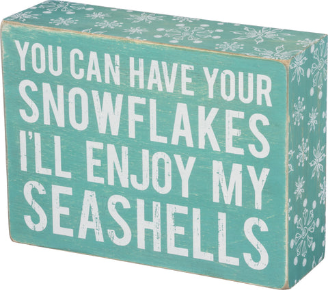 Holiday Sign Snowflakes - By the Sea Beach Decor