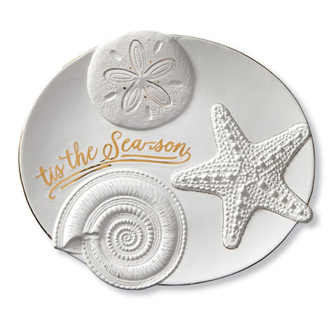 Sea Christmas Platter - By the Sea Beach Decor