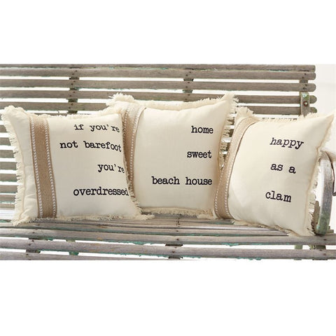 Canvas Word Sea Pillows - By the Sea Beach Decor