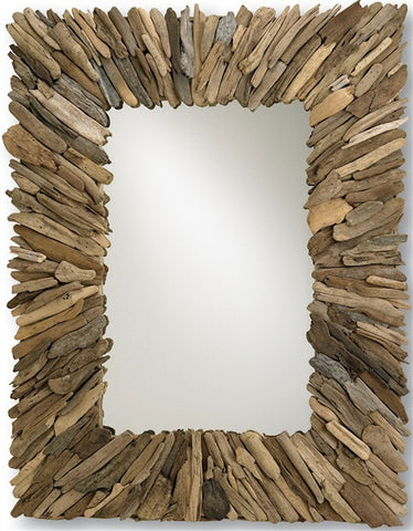 Beachhead Wood Rectangular Mirror - By the Sea Beach Decor