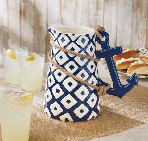 Anchor Beach Decor Serveware Pitcher