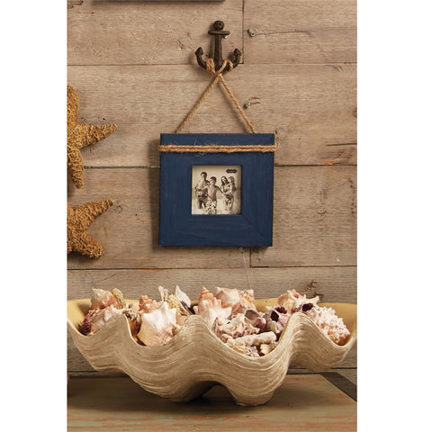 Navy Anchor Frame - By the Sea Beach Decor