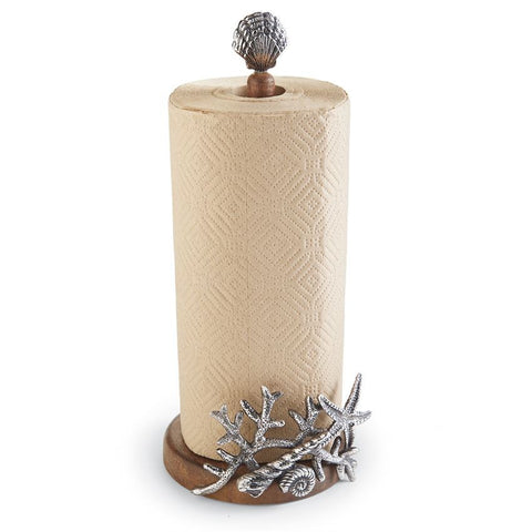 Coastal Kitchen Coral Paper Towel Holder