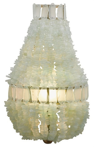 Zucchero Seaglass Wall Sconce - By the Sea Beach Decor