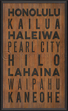 Coastal Poster Beach Towns Hawaii Artwork Black - By the Sea Beach Decor