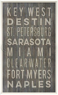 Coastal Poster Beach Towns Florida Gray - By the Sea Beach Decor