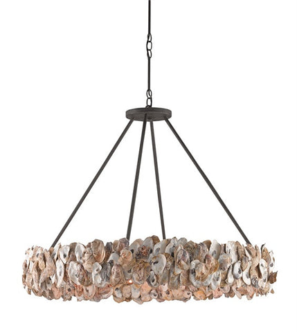 Oyster Circle Chandelier - By the Sea Beach Decor