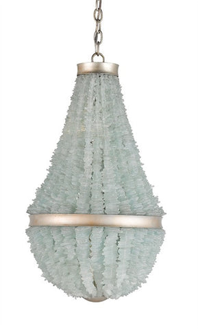 Platea Seaglass Chandelier - By the Sea Beach Decor