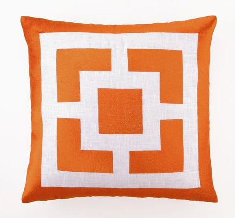 Orange Coastal Throw Pillow
