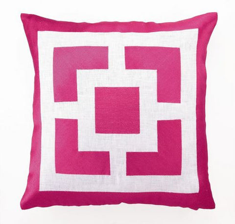 Pink Coastal Throw Pillow