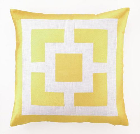 "Palm Springs Lemon 20"" Pillow - By the Sea Beach Decor"