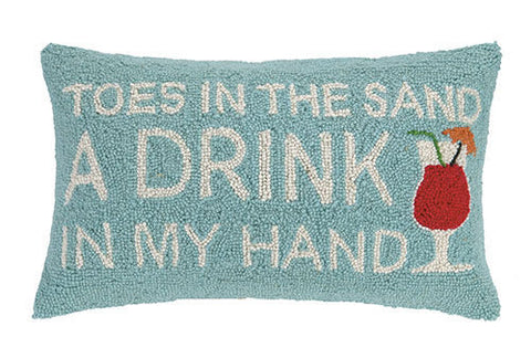 Toes in the Sand Hook Pillow - By the Sea Beach Decor