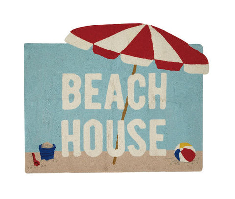 Beach House Throw Rug - By the Sea Beach Decor