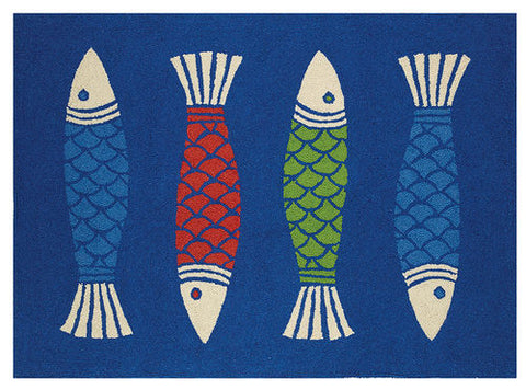 Beach Decor Rugs Colorful Fish