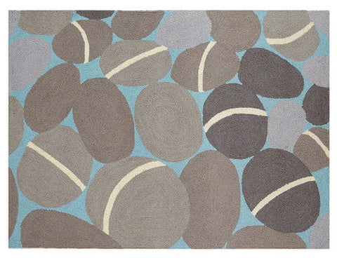 Pebbles Beach Throw Rug