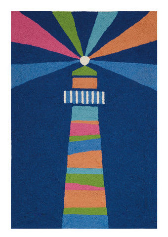 Lighthouse Coastal Throw Rug