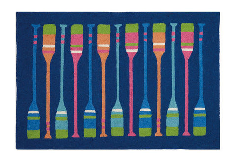 Oars Coastal Throw Rug