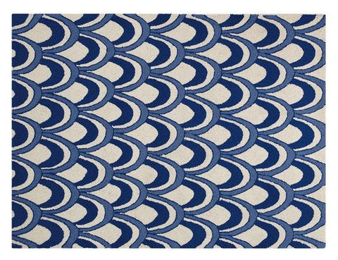 Scales Hook Throw Rug - By the Sea Beach Decor