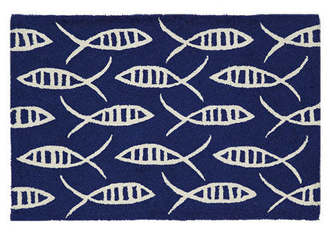 Indigo Fish Coastal Rug