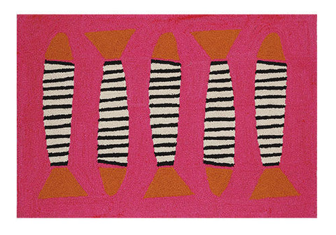 Zebra Fish Coastal Rug