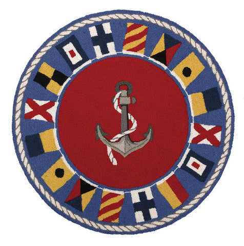 Signal Flags Coastal Rug
