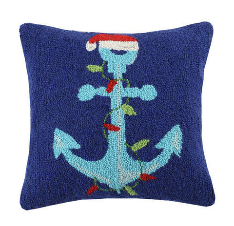 Christmas By the Sea Anchor Pillow