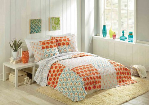 Flamingo Citrus Quilt Bedding Set - By the Sea Beach Decor