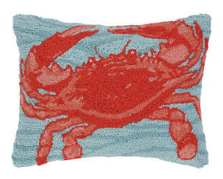 Katama Beach Crab Hook Pillow - By the Sea Beach Decor