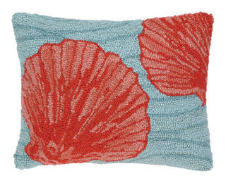 Shell Beach Throw Pillow