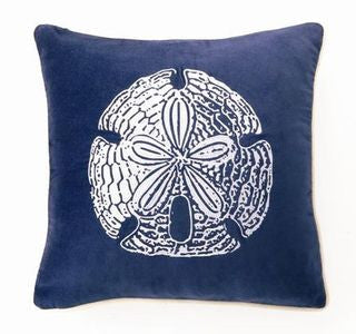 "Lubec Velvet Sand Dollar 18"" Pillow - By the Sea Beach Decor"
