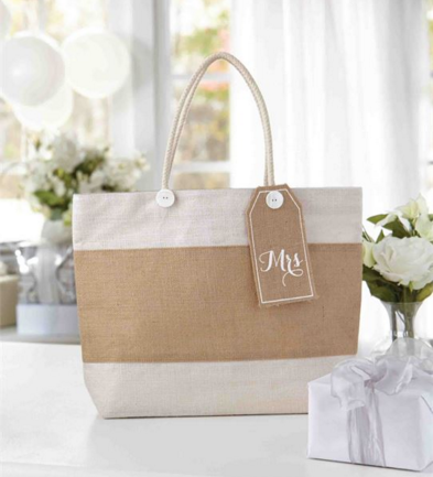 Burlap Beach Wedding Bag