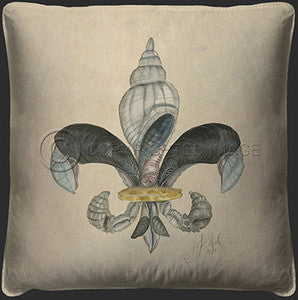 Shell Beach Decor Pillow