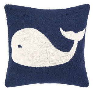 Rehoboth Whale Hook Pillow - By the Sea Beach Decor
