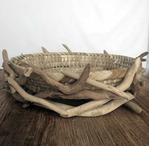 Driftwood Basket - By the Sea Beach Decor
