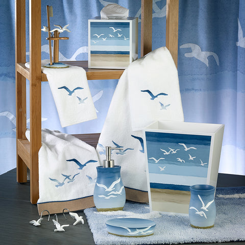 Seagulls Bath Accessories - By the Sea Beach Decor