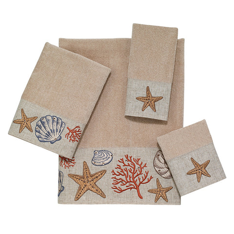 Sea Treasure Linen Towel Collection - By the Sea Beach Decor