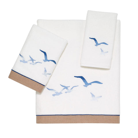 Seagulls White Towel Collection - By the Sea Beach Decor
