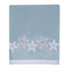 Sequin Shells Aqua Towel Collection - By the Sea Beach Decor