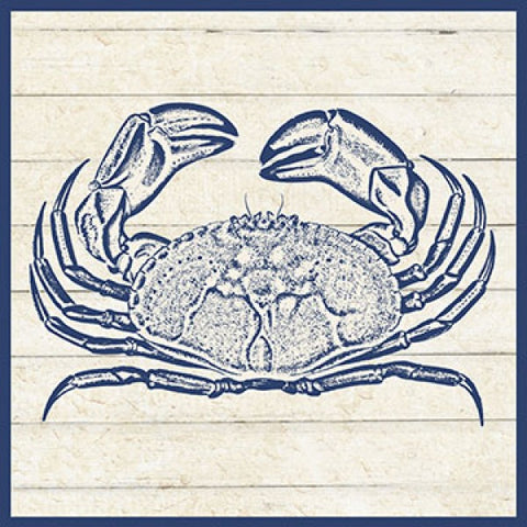 Sand Treasures Crab Print - By the Sea Beach Decor