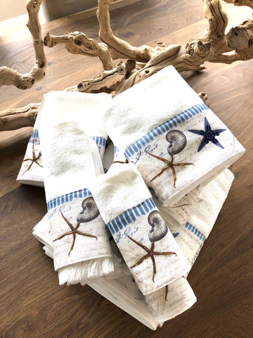 Antigua White Coastal Towels