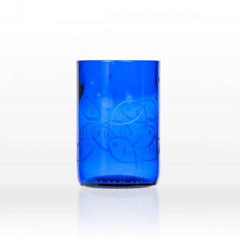 Blue Fish Coastal Glassware - By the Sea Beach Decor