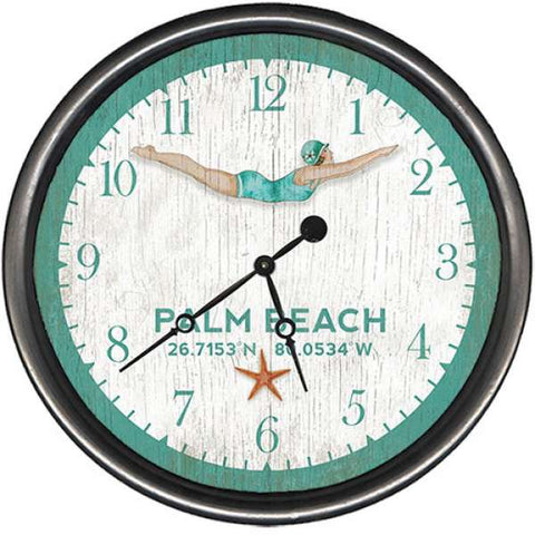 Seacliff Diver Beach Clock - By the Sea Beach Decor