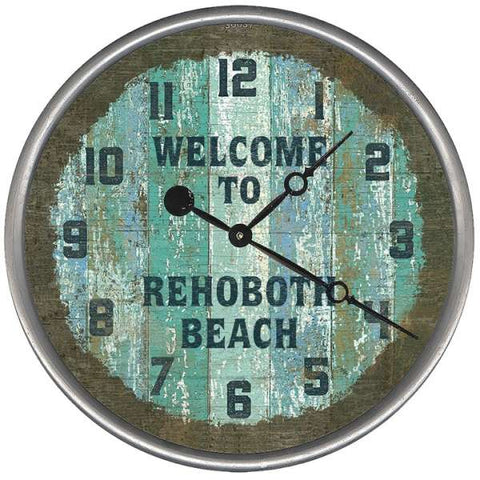 Seacliff Welcome Beach Clock - By the Sea Beach Decor
