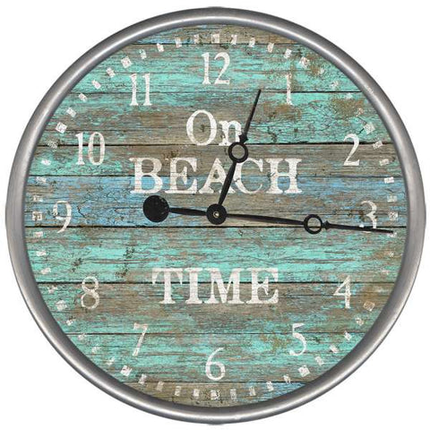 Seacliff On Beach Time Clock - By the Sea Beach Decor